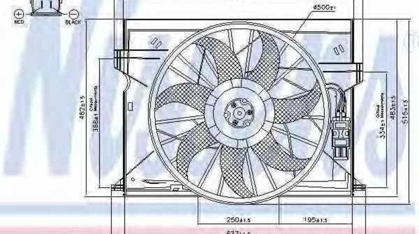 Ventilator radiator MERCEDES-BENZ CLS C219 NISSENS 85077