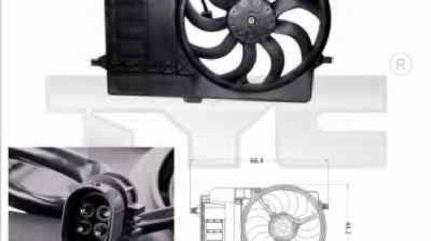 Ventilator radiator MINI MINI Cabriolet R52 TYC 803-0001
