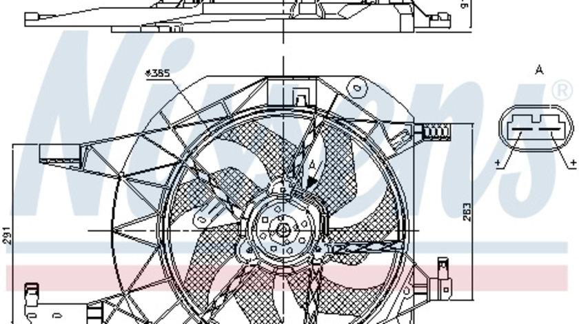 Ventilator radiator NISSAN PRIMASTAR; OPEL VIVARO A; RENAULT TRAFIC II 1.9-2.5D dupa 2001