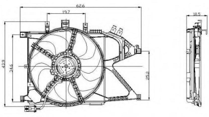 Ventilator, radiator OPEL COMBO Combi (2001 - 2016) NRF 47012 piesa NOUA