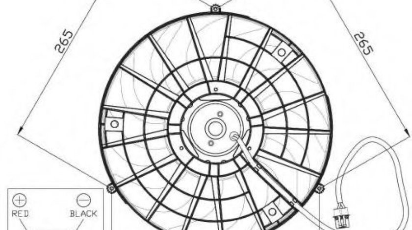Ventilator, radiator OPEL TIGRA (95) (1994 - 2000) NRF 47483 - produs NOU