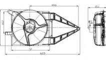 Ventilator, radiator OPEL TIGRA (95) (1994 - 2000)...