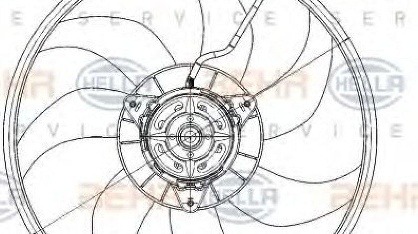 Ventilator, radiator OPEL TIGRA TwinTop (2004 - 2016) HELLA 8EW 351 039-701 produs NOU