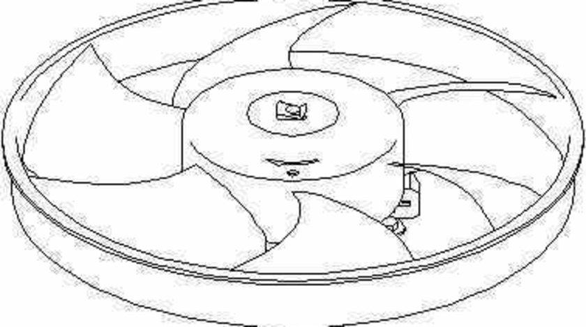 Ventilator radiator PEUGEOT 306 Cabriolet 7D N3 N5 TOPRAN 721 524