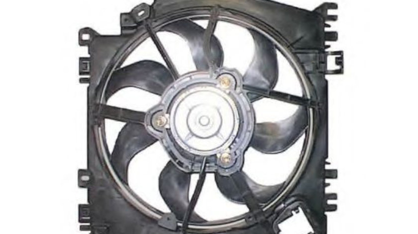 Ventilator, radiator RENAULT CLIO III Grandtour (KR0/1) (2008 - 2012) NRF 47371 piesa NOUA