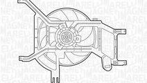 Ventilator, radiator RENAULT MEGANE II (BM0/1, CM0...