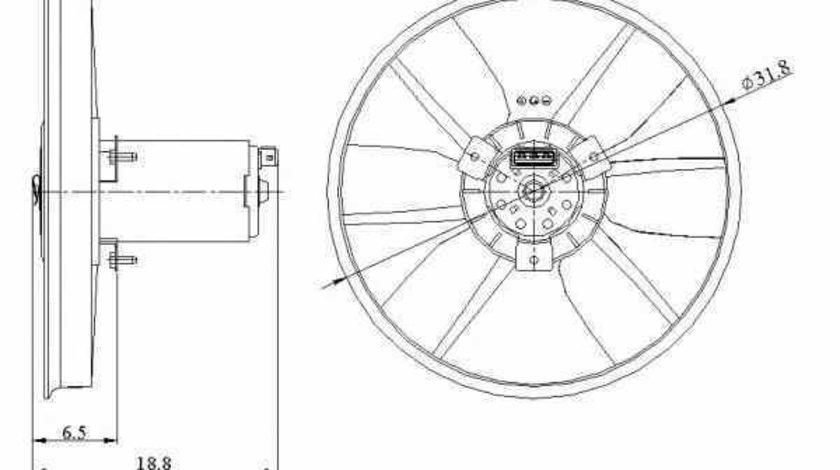 Ventilator radiator SEAT CORDOBA 6K2 NRF 47401