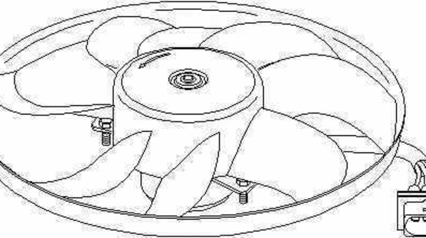 Ventilator radiator SKODA FABIA Praktik TOPRAN 109 827