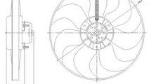 Ventilator, radiator SKODA OCTAVIA I Combi (1U5) (...
