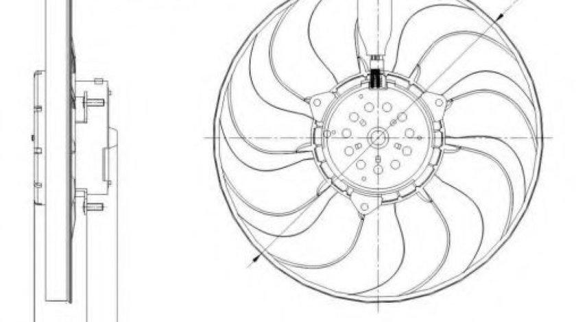 Ventilator, radiator VW GOLF IV Variant (1J5) (1999 - 2006) NRF 47392 produs NOU