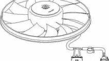 Ventilator radiator VW GOLF V 1K1 TOPRAN 112 321