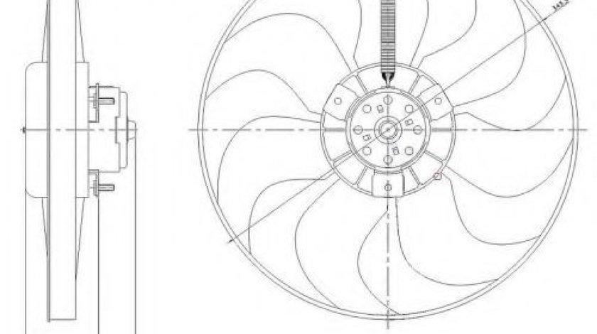 Ventilator, radiator VW LUPO (6X1, 6E1) (1998 - 2005) NRF 47204 produs NOU