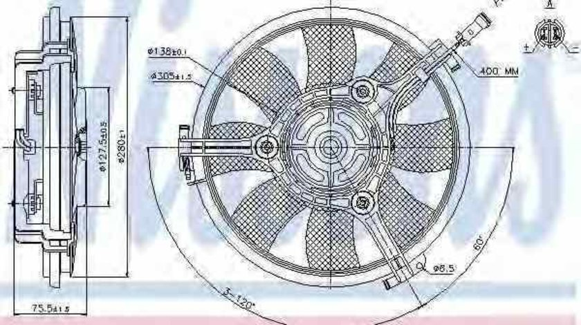 Ventilator radiator VW PASSAT 3B2 NISSENS 85691