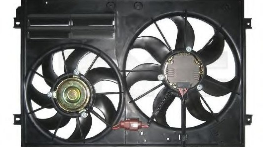 Ventilator, radiator VW PASSAT CC (357) (2008 - 2012) TYC 837-0026 produs NOU