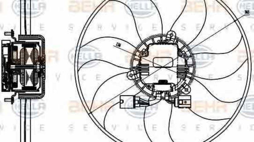 Ventilator radiator VW PASSAT CC 357 HELLA 8EW 351 040-071