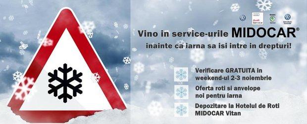 Verificarea de iarna este gratuita in service-urile MIDOCAR