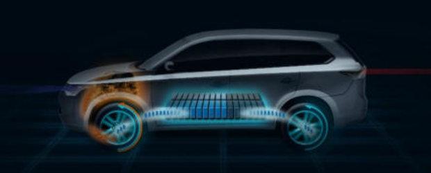 Versiunea hibrida a lui Mitsubishi Outlander va fi prezentata la Paris