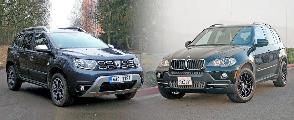 Versus de 15.000 de Euro: Dacia Duster noua vs. BMW X5 second-hand. Ce sa aleg?