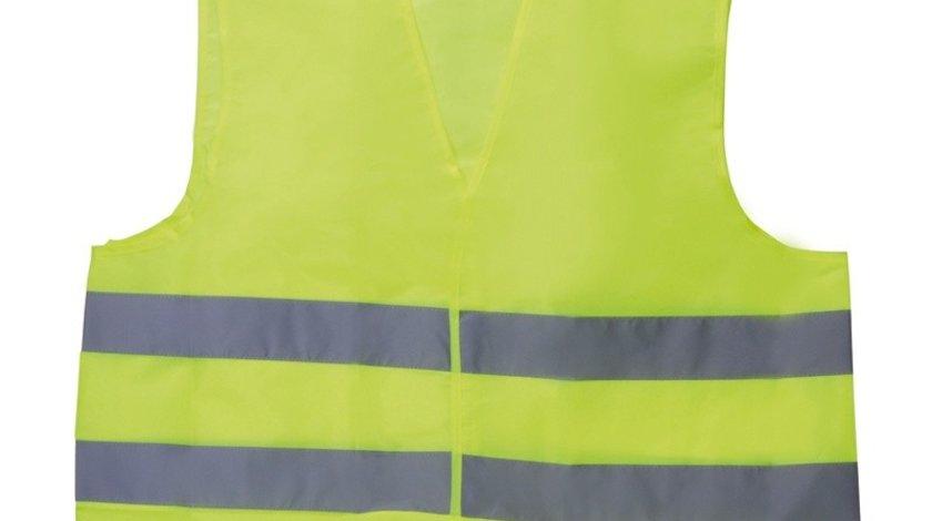 Vesta reflectorizanta BestAutoVest verde marime XL cu benzi reflectorizante
