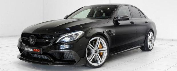 Vestile bune circula repede: Brabus inghesuie 650 CP sub capota noului Mercedes C63 AMG S