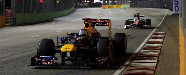 Vettel a obtinut prima victorie la Singapore cu Pirelli