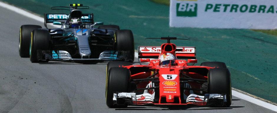 Vettel obtine victoria pentru Scuderia Ferrari in Brazilia. Hamilton a terminat cursa pe 4