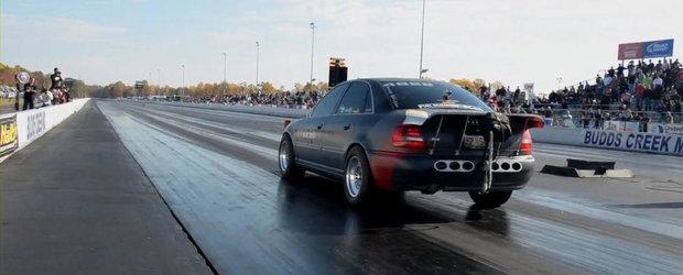 Viata pe sfertul de mila: Un Audi S4 parcurge cei 402 metri in doar 9.2 secunde!