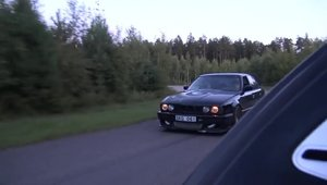 VIDEO: A batut un Bugatti Veyron de 1001 cai cu al sau BMW M5 turbo