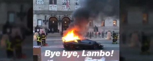 VIDEO: A turat motorul masinii pana cand a luat foc