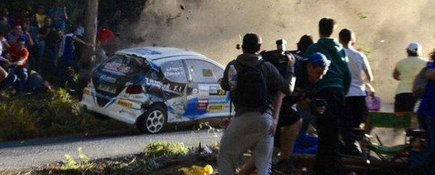 VIDEO: accident cumplit la raliu in Spania soldat cu 6 persoane decedate
