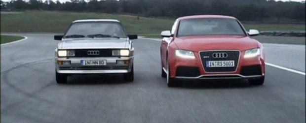 Video: Audi RS5 intalneste legendarul Ur-Quattro