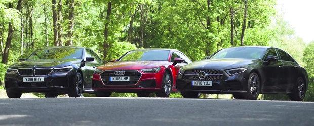 VIDEO: BMW a iesit ultimul, dar nu asta e surpriza. Cine a castigat dintre noul Mercedes CLS si Audi A7?
