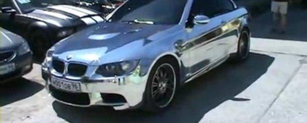 Video: BMW M3 cromat din Rusia
