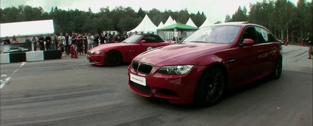 Video: BMW M3 Supercharged si BMW Z4 V10, fata in fata, pe pista de drag