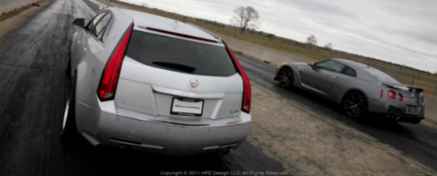 Video: Cadillac CTS-V Sport Wagon face o noua victima printre supercaruri