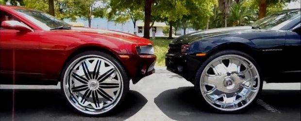 VIDEO: Chevrolet Camaro cu jante pe 32 inci. Ori 2!