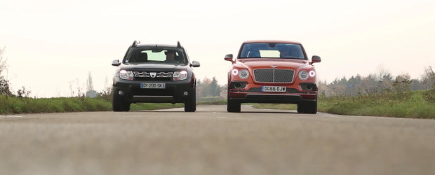 VIDEO: Dacia Duster vs. Bentley Bentayga. Care crezi ca este mai buna in viata reala?