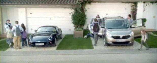 VIDEO: Dacia Lodgy ironizeaza supercarurile intr-un spot publicitar