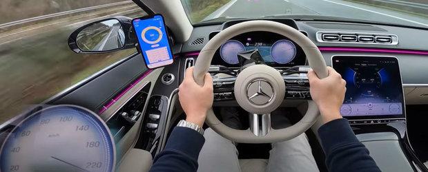 VIDEO de la volanul noului Mercedes S500. La bordul lui calatoresti in lux deplin cu viteze ametitoare