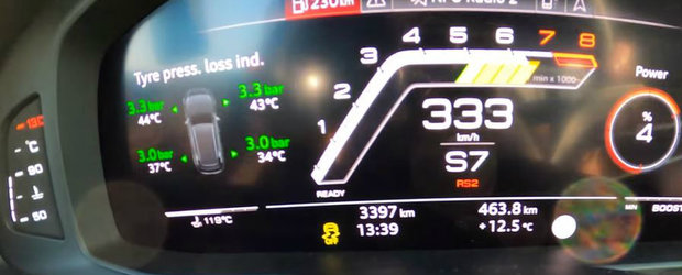 VIDEO de neratat: 0-333 km/h cu un AUDI RS6 de 1001 CP, tunat de MTM