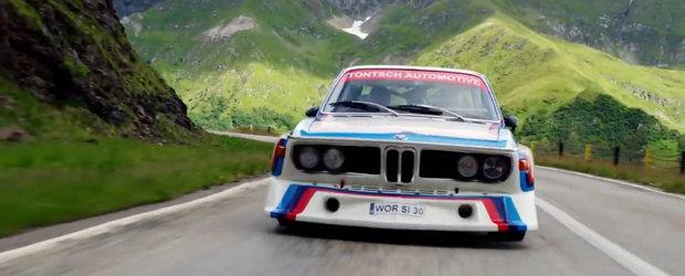 VIDEO de pus pe repeat. Parintele BMW Motorsport si un BMW 3.0 CSL pe Transfagarasan