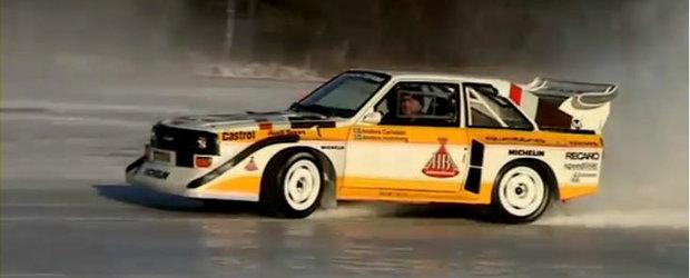 VIDEO: Distractie in zapada, pe gheata, la bordul legendarului Audi S1
