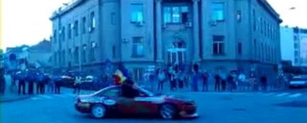 Video: Drifterii romani fac spectacol in Serbia!