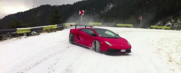 VIDEO: Drifturi pe Transfagarasan cu cel mai extrem Gallardo din istorie!