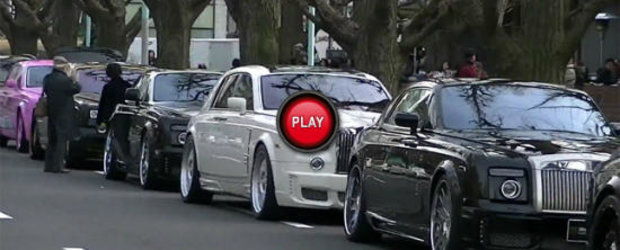 VIDEO: Expozitie de Rolls-uri tunate pe strazile din Tokyo