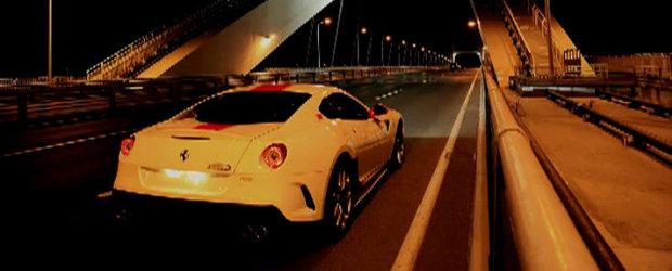 VIDEO: Extremul Ferrari 599 GTO sustine un concert rasunator in tunelurile din Shanghai