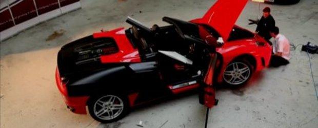 Video: F430 Stealth - Ferrari in folie negru mat