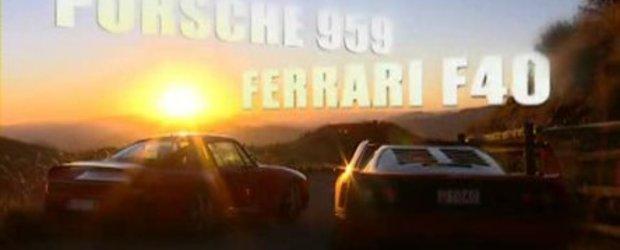 Video: Ferrari F40 versus Porsche 959