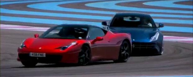 VIDEO: Ferrari FF si Jeremy Clarkson se iau la intrecere cu modelul 458 Italia