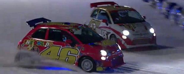 Video: Ferrari versus Ducati, duel pe... Gheata!
